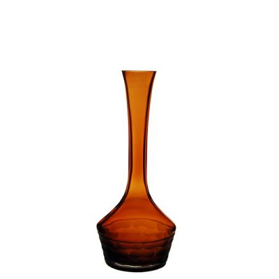 "14.5"" Decorative Olive Green Glass Vase"