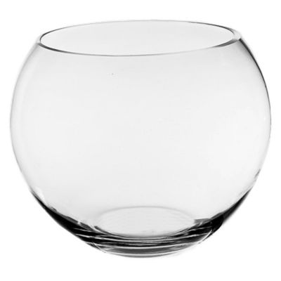 "6"" Clear Glass Bubble Round Shape Bowl"