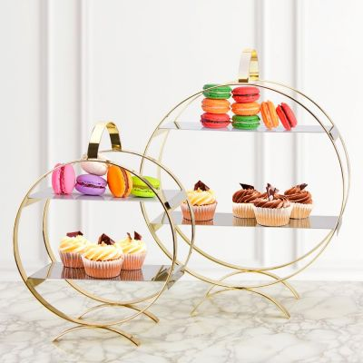 Gold Circle Cake Stand, 3 Sizes to Choose
