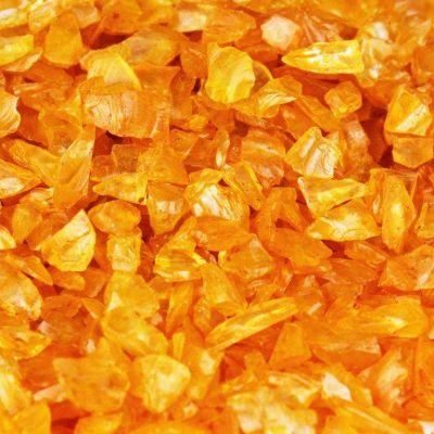Orange Crushed Glass Gravel Substrate Vase Filler