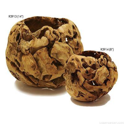 """Driftwood Bowl Pot. D-8"""", 14"""""""