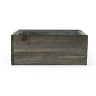 "4"" x 10"" x 10"" Square Wood Planter Box w/ Zinc Liner (Free Shipping)"