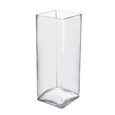 "16"" Decorative Square Cube Glass Vase"