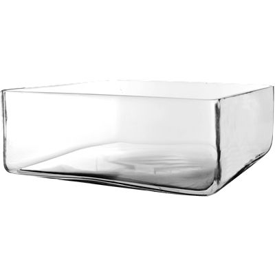 """4"""" Square Glass Wedding Vase with 10""""x10"""" Opening"""