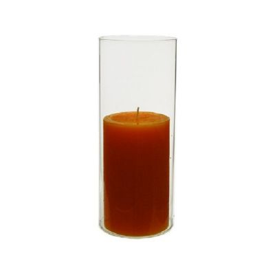 "9.5"" Hurricane Glass Tube 4"" Open-Ended Candle Holder Flame Protector"
