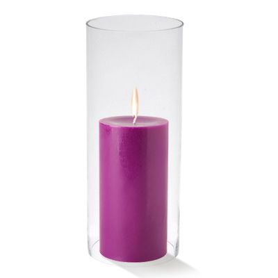 "H-10"", D-6"" Open-Ended Glass Hurricane Candle Shade Chimney Tube"