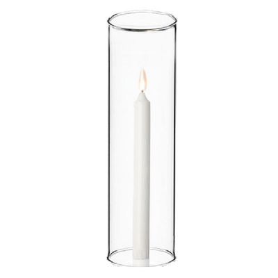 """H-24"""", D-6"""" Open-Ended Glass Hurricane Candle Shade Chimney Tube"""