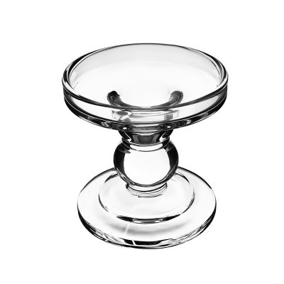 "3.75"" Bubble Glass Pillar, Taper Candle Holder"