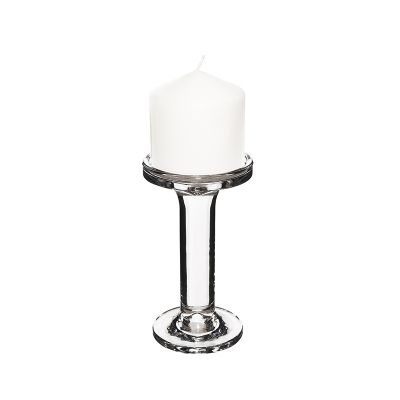 "6.25"" Modern Style Glass Pillar & Taper Candlesticks"