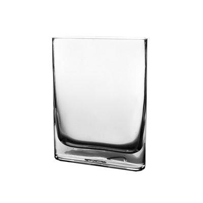 """10"""" Slender Rounded Rectangular Glass Vases"""