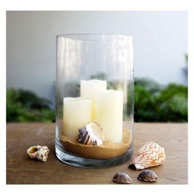 """12"""" Decorative Glass Cylinder Candle Holder Vase"""