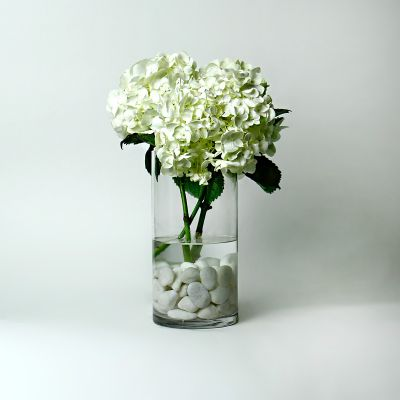 """10"""" Decorative Glass Cylinder Candle Holder Vases"""