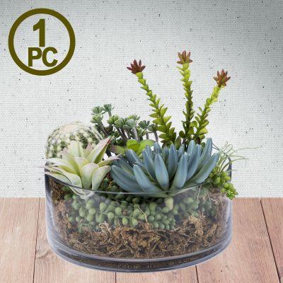"""H-4"""", D-10"""" Decorative Glass Cylinder Candle Holder Vase"""