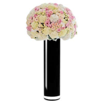 """20"""" Black Cylinder Glass Vase"""