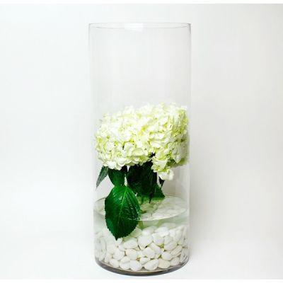 "30"" Decorative Clear Glass Cylinder Vase"