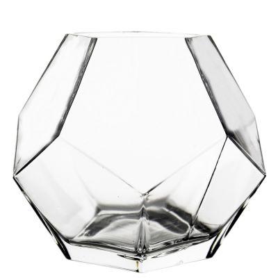 """7"""" Geometric Faceted Gem Glass Terrarium Vases"""