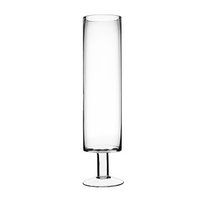"17"" Hurricane Glass Short Stem Candle Holder"