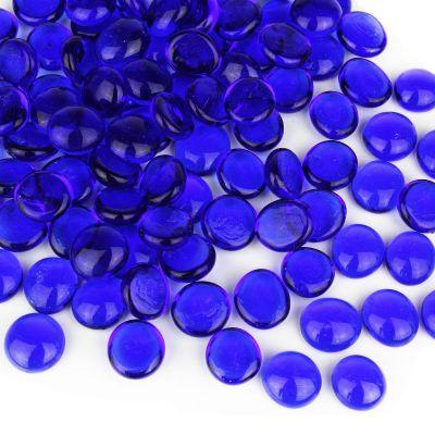 Cobalt Blue Flat Gemstone Bowl and Vase Fillers