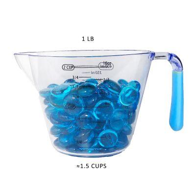 Light Blue Glass Flat Gemstone Vase Fillers