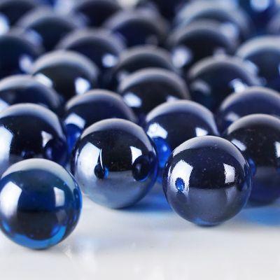 """Large 1"""" Blue Glass Marble Gemstone Vase Fillers"""