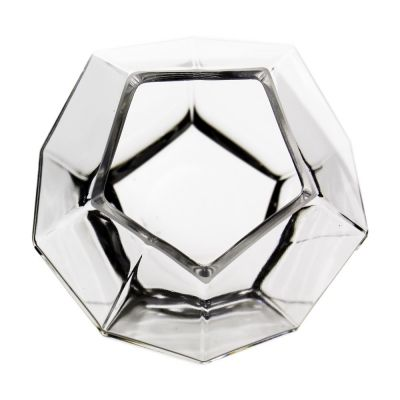 "6"" Geometric Faceted Gem Glass Terrarium Vases"