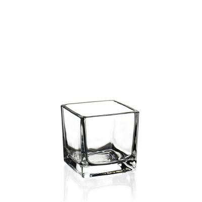 "2"" Decorative Glass Cube Vase"