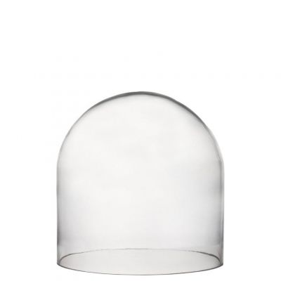 "Glass Dome Cloche with Wood Base, 6.5""  x 5.8"" (Free Shipping)"