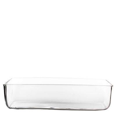 """4"""" Long Rectangular Glass Vase Planter"""