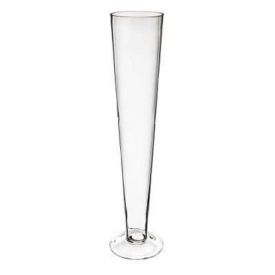 "20"" Clear Glass Trumpet Centerpiece Vase"