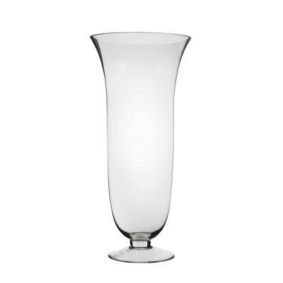 """14"""" Flared Goblet Glass Hurricane Trumpet Vases"""