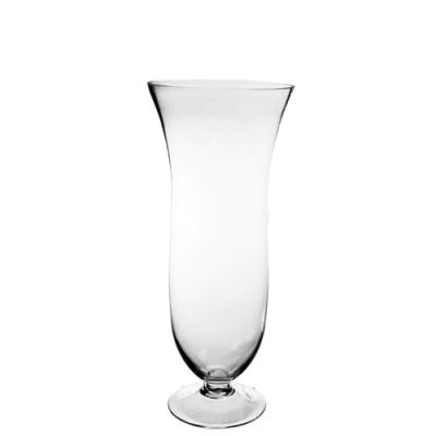 "16.5"" Flared Goblet Glass Hurricane Trumpet Vases"