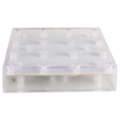 "5""x5"" LED Square Vase Base White Light"