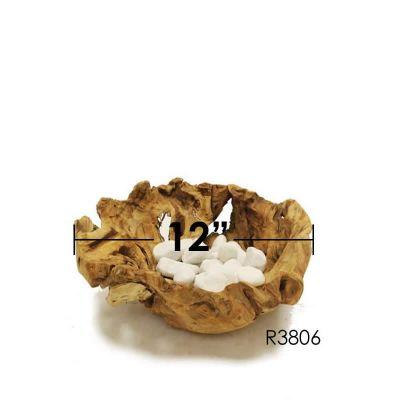 """Driftwood Wide Bowl Pot. D-12"""""""