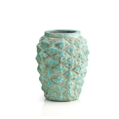 "Green Pineapple Vase. H-9"", D-7"" (Free Shipping)"