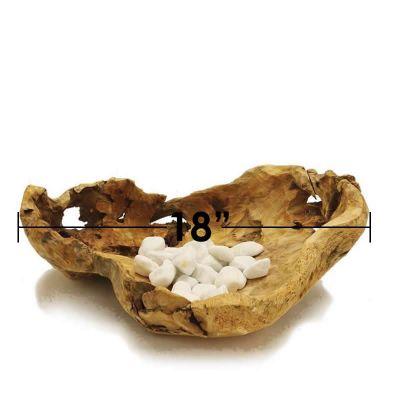 """Driftwood Wide Bowl Pot. D-18"""""""