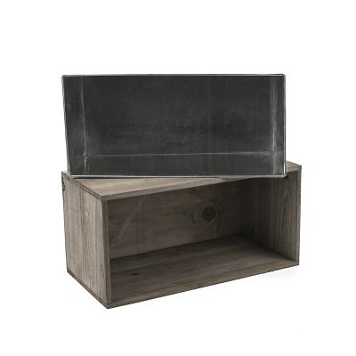 "8"" x 16"" x 8"" Wood Rectangle Planter Box w/ Zinc Metal Liner (Free Shipping)"