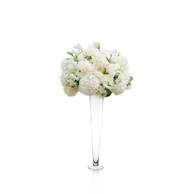 "24"" Clear Glass Trumpet Wedding Centerpiece Vase"