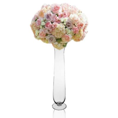 "21.25"" Glass Trumpet Flare Rim Wedding Centerpiece Vases"