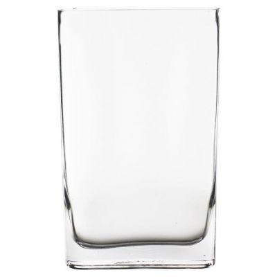 """12"""" Slender Rounded Rectangular Glass Vases"""