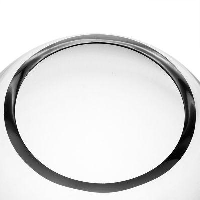 """10"""" Decorative Glass Terrarium Slant Cut Asymmetrical Bubble Bowl"""