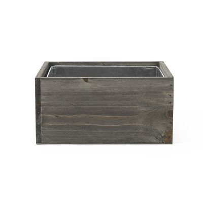 "4"" x 8"" x 8"" Square Wood Planter Box w/ Zinc Metal Liner (Free Shipping)"