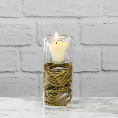 "5"" Glass Tealight Votive Candle Holder Bud Vase"