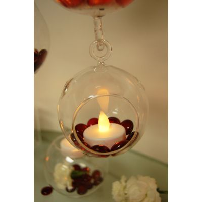 "3.5"" Glass Plant Terriarium Tealight Candle Holder"