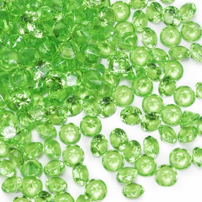 "0.75"" Green Acrylic Crystal Diamond Gemstone Vase Fillers"