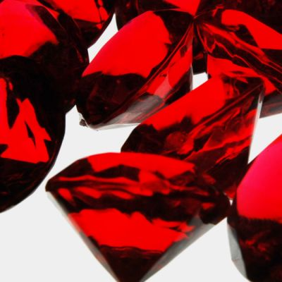 "0.75"" Red Acrylic Crystal Diamond Gemstone Vase Fillers"