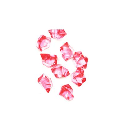 Pink Acrylic Crushed Ice Bowl Vase Fillers