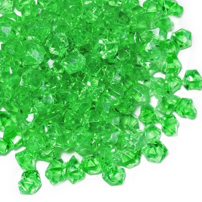 Green Acrylic Crushed Ice Bowl Vase Fillers