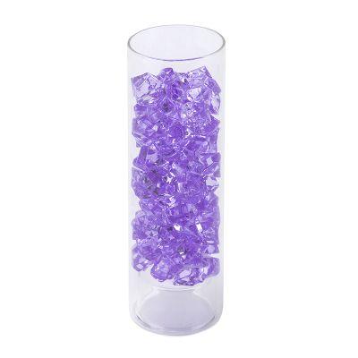 Violet Acrylic Vase Filler Ice Rocks