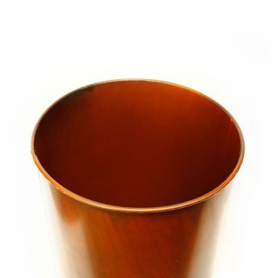"25"" Garden Copper Zinc Metal Planter Cylinder Pot Vase"