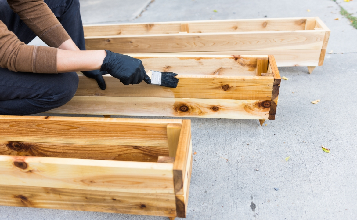 DIY Project: Home Wooden Planter Boxes